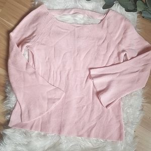 LOFT Light Pink Bell Sleeve Top